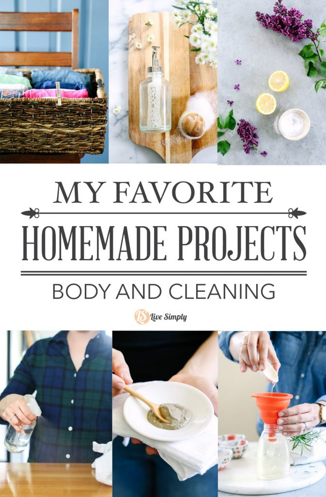I like all of my DIY projects but these are truly some of my favorite homemade projects for body care and cleaning!