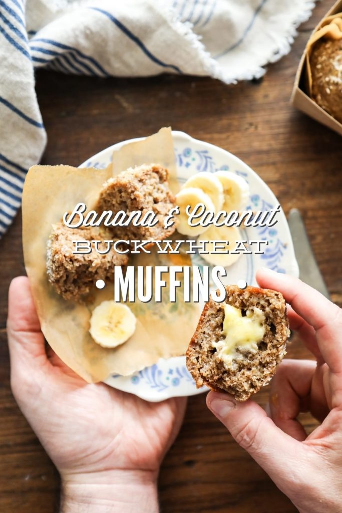 Hearty, slightly-sweet, and full of good-for-you ingredients. The earthy buckwheat flavor adds a rustic feel and taste to the muffins. YUM!