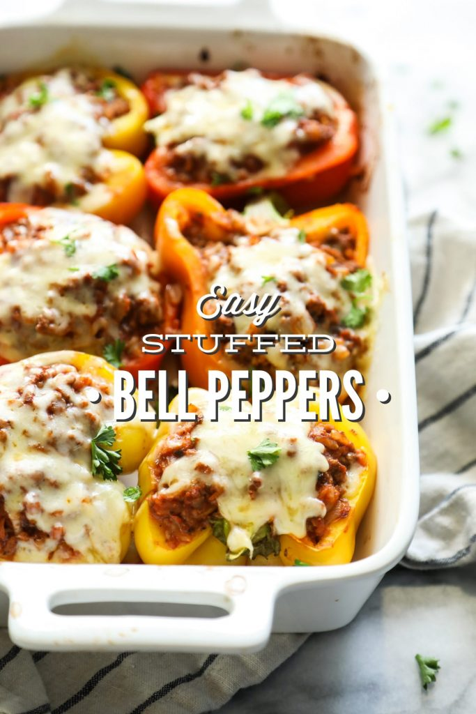 YUM!! My family loved this meal. So easy, freezer-friendly, and perfect for the whole family. 100% real ingredients. Budget-friendly, too. Stuffed peppers.