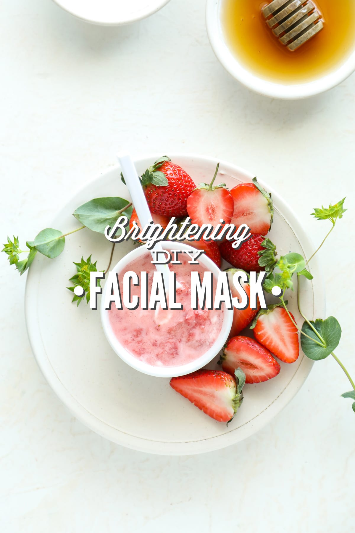Strawberries And Yogurt Brightening Diy Facial Mask Live Simply