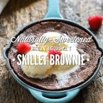 Naturally-Sweetened Einkorn Skillet Brownie