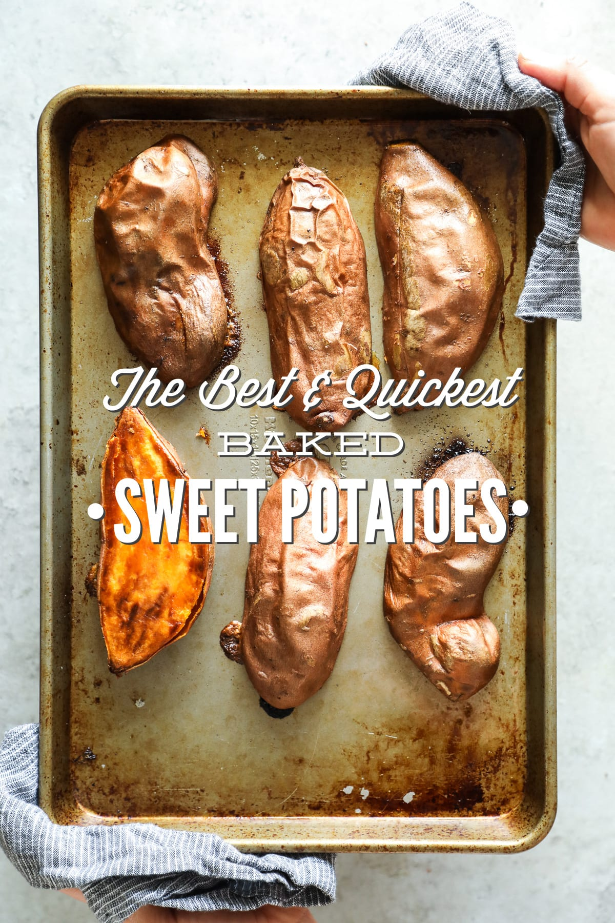 Quickest way to cook sweet potato without microwave