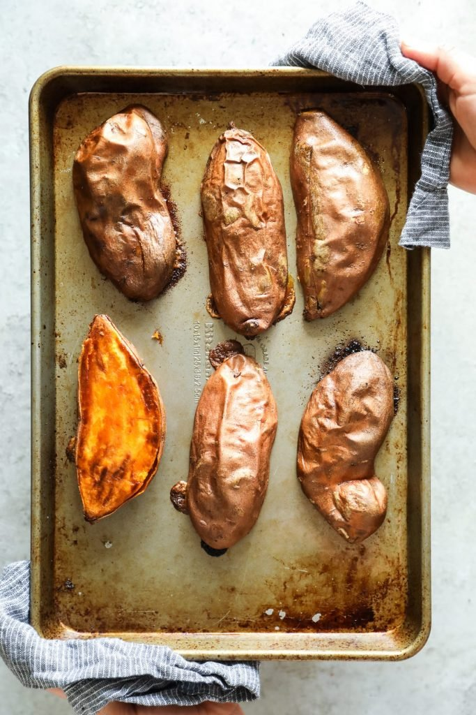 The Best and Quickest Baked Sweet Potatoes - Live Simply