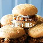 30-Minute Homemade Sloppy Joes