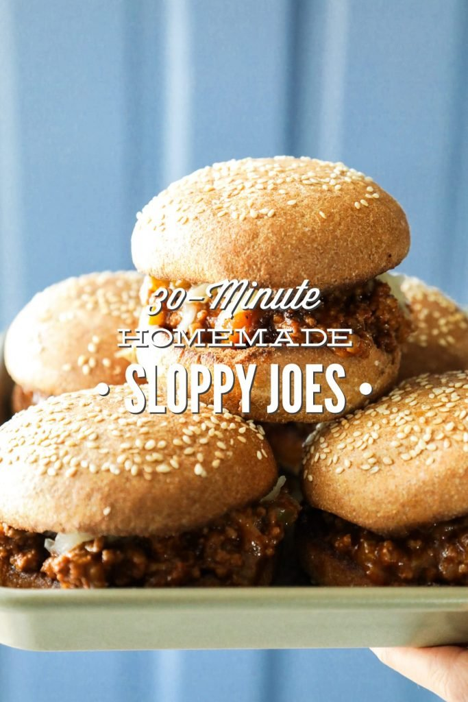 A (homemade) real food sloppy joe recipe that can be made in under 30 minutes. Real, inexpensive meal idea.