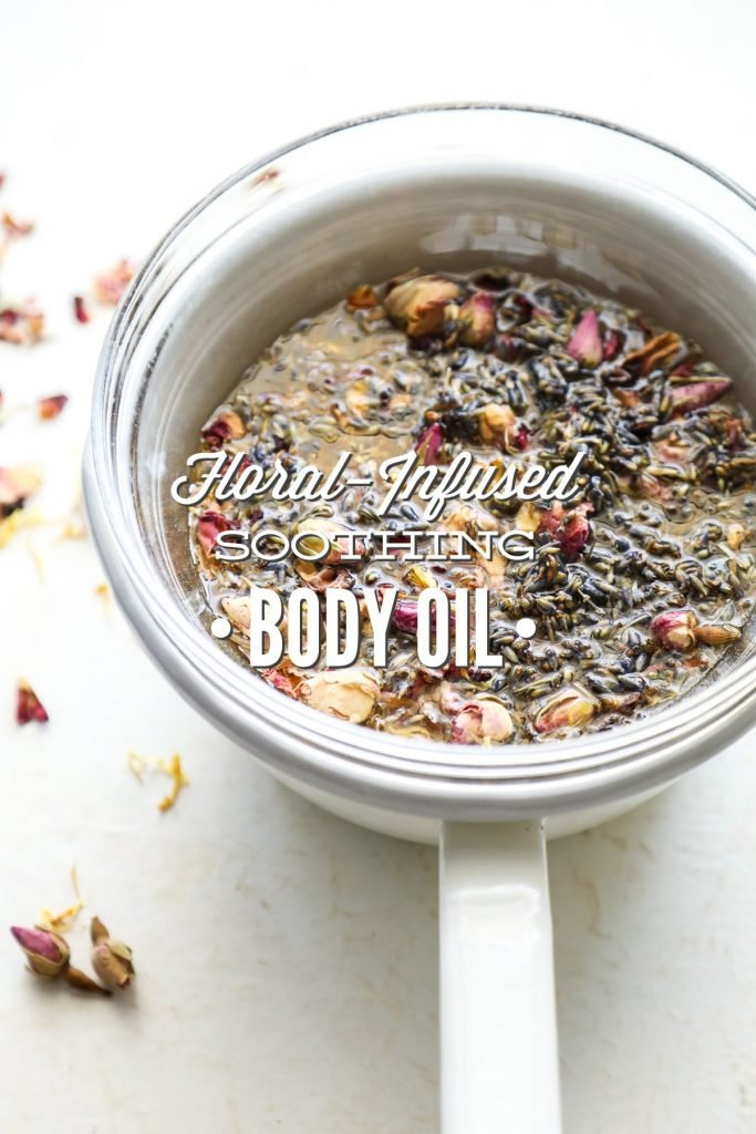 A light, floral-infused body oil that nourishes and moisturizes the skin.