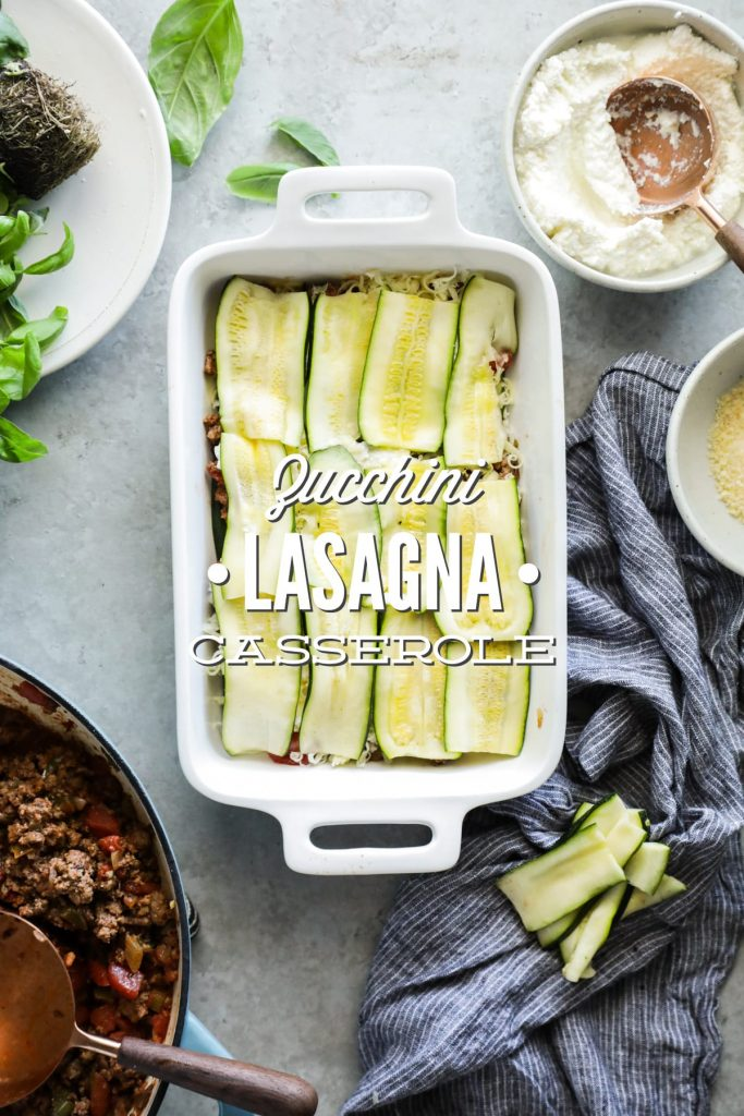 A naturally gluten and grain free lasagna! Use seasonal zucchini to make this veggie-packed twist on classic cheese and meat lasagna.