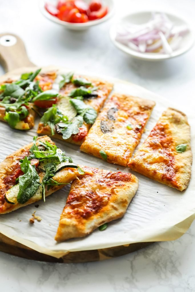 The best pizza dough! So easy to make (no kneading) and tastes similar to white flour (but it's a lot healthier for you). Einkorn pizza dough! Grill it for flatbreads or bake it in the oven for pizza.