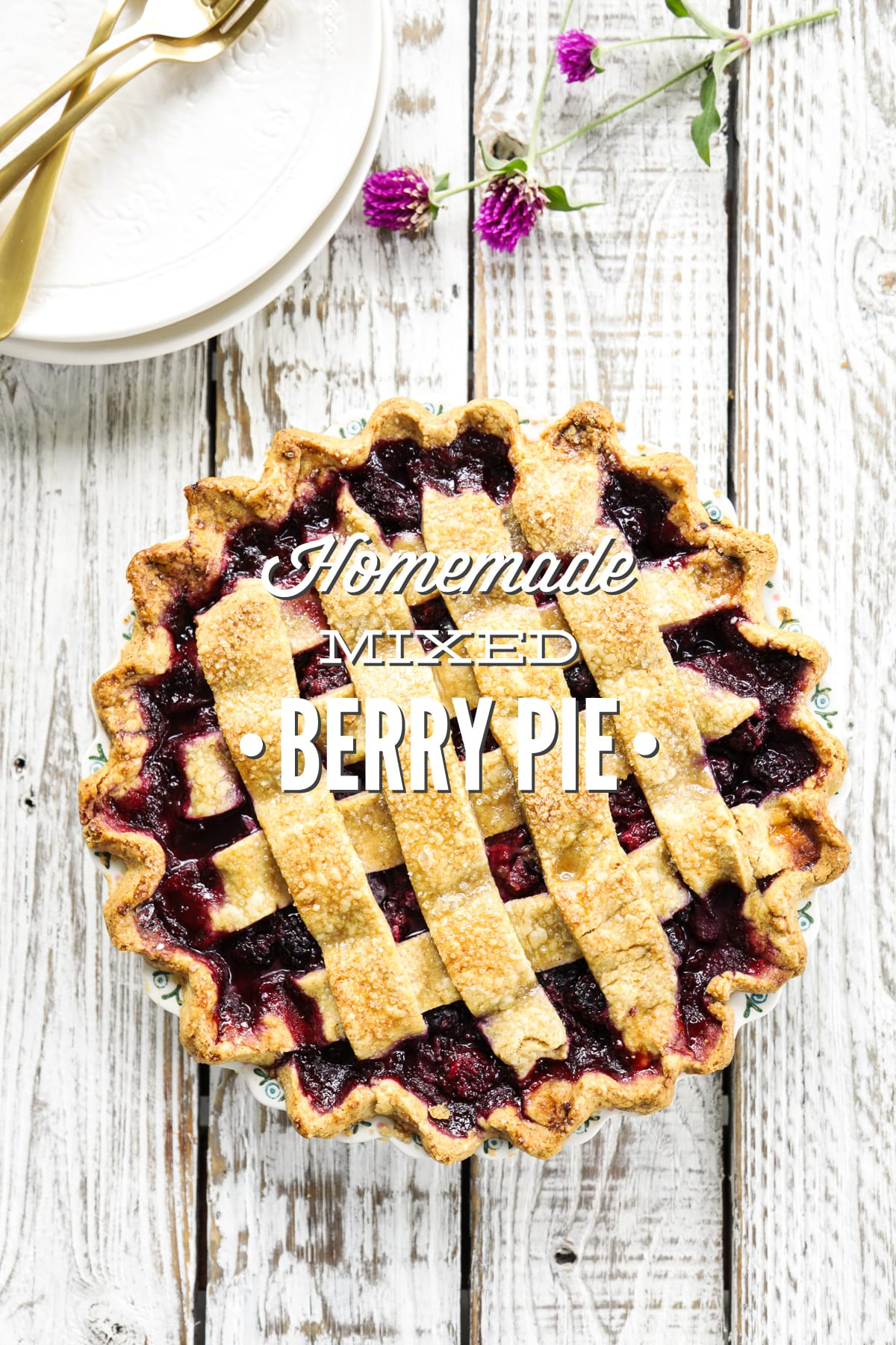 Homemade Mixed Berry Pie
