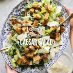 Kale and Romaine Caesar Salad