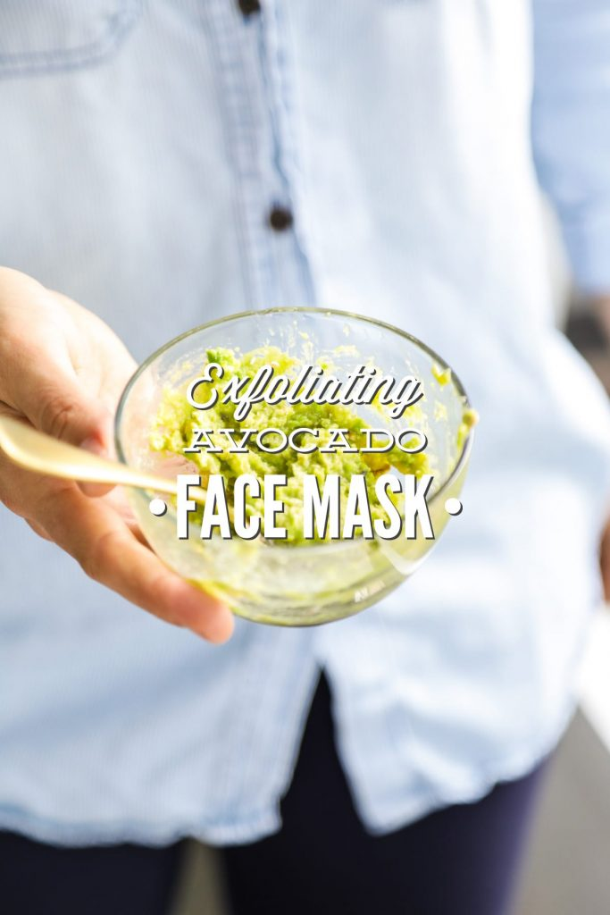 A simple, real food-inspired face mask made with leftover avocado, rolled oats, and honey.