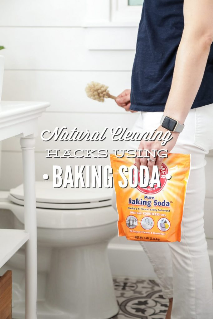 Natural cleaning hacks using just baking soda! 13 ways to naturally clean your house with just one bag/box of baking soda.
