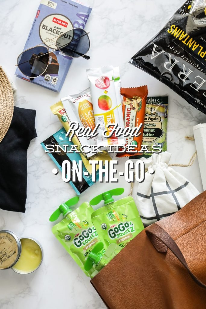 Don't let vacations and being on the go keep you from eating real food. Try bringing or making these on-the-go snacks around with you!