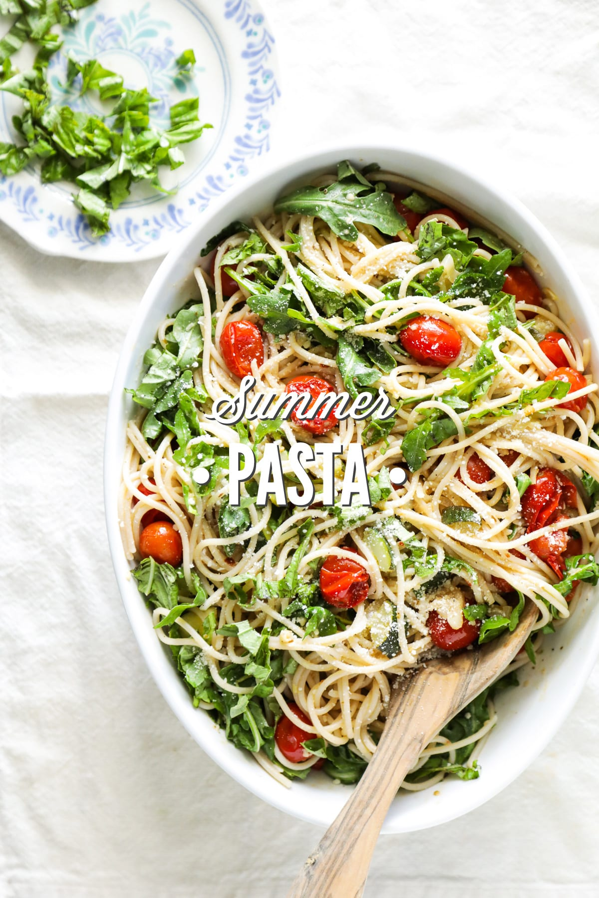 Summer Pasta with Burst Tomatoes, Zucchini, and Arugula