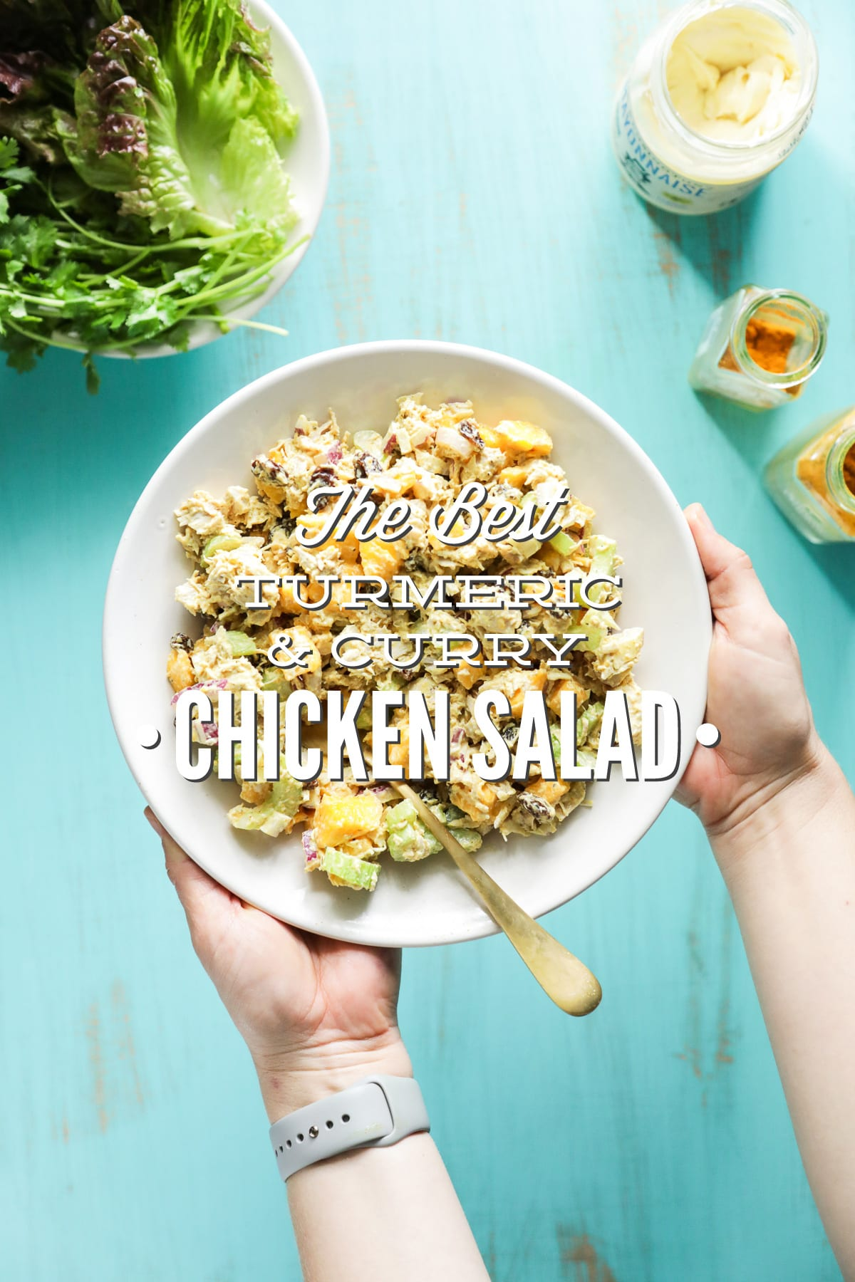 The Best Turmeric and Curry Chicken Salad