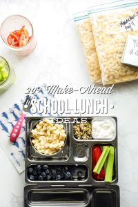 20 Plus (Real Food) Make-Ahead School Lunch Ideas (with Freezer-Friendly Options)