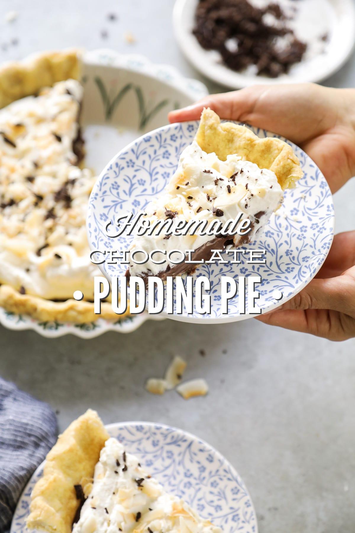 Homemade Chocolate Pudding Pie (No-Bake, Refined Sugar-Free ...