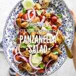 Tomato and Cucumber Panzanella Salad