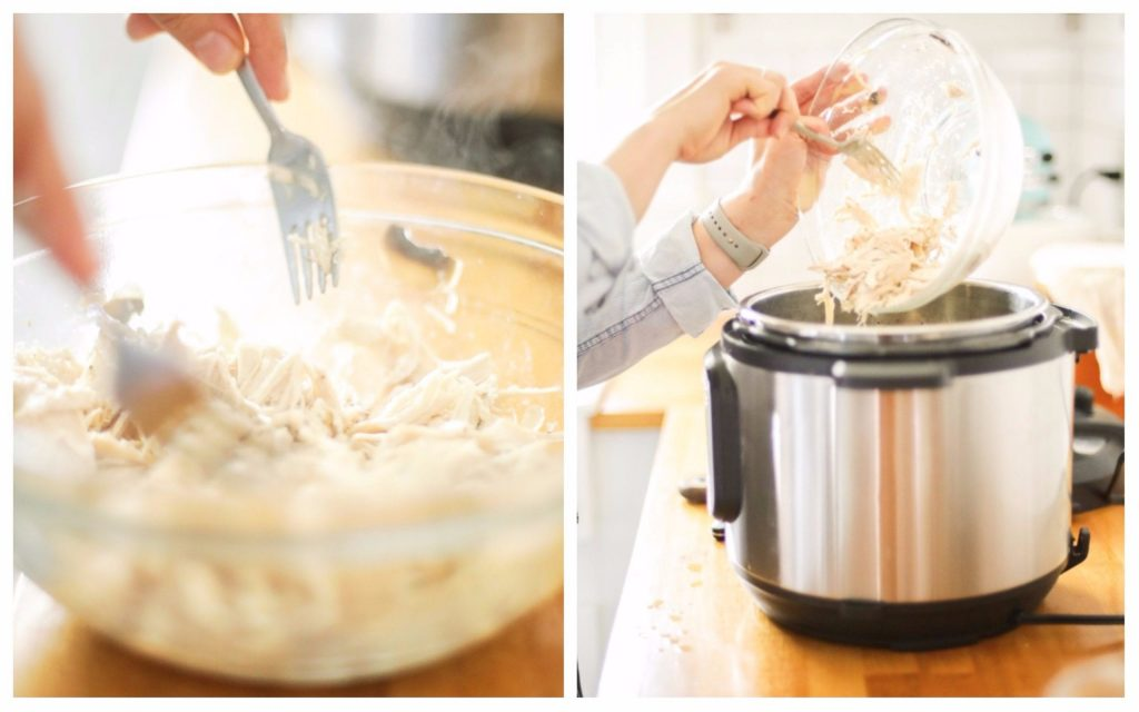 30 minutes or less meal! Instant Pot Creamed Chicken and Rice Soup. Favorite meal in our home.