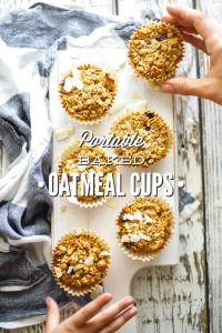 Make-Ahead, Portable Baked Oatmeal Cups (Freezer-Friendly)