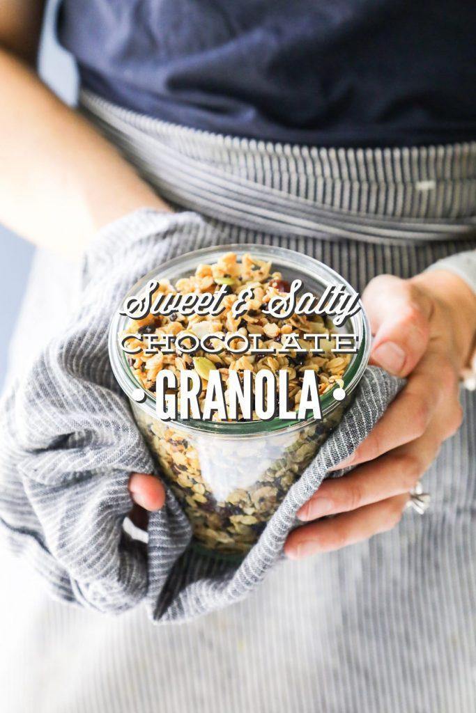Sweet and Salty Chocolate Granola
