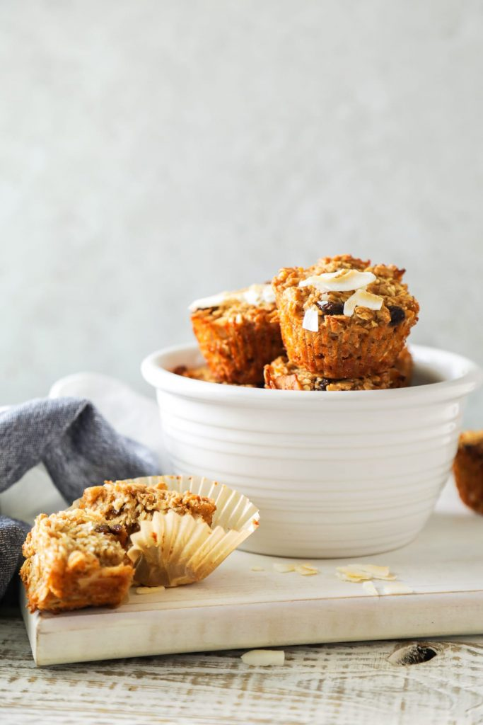 baked oatmeal cups ready to be served