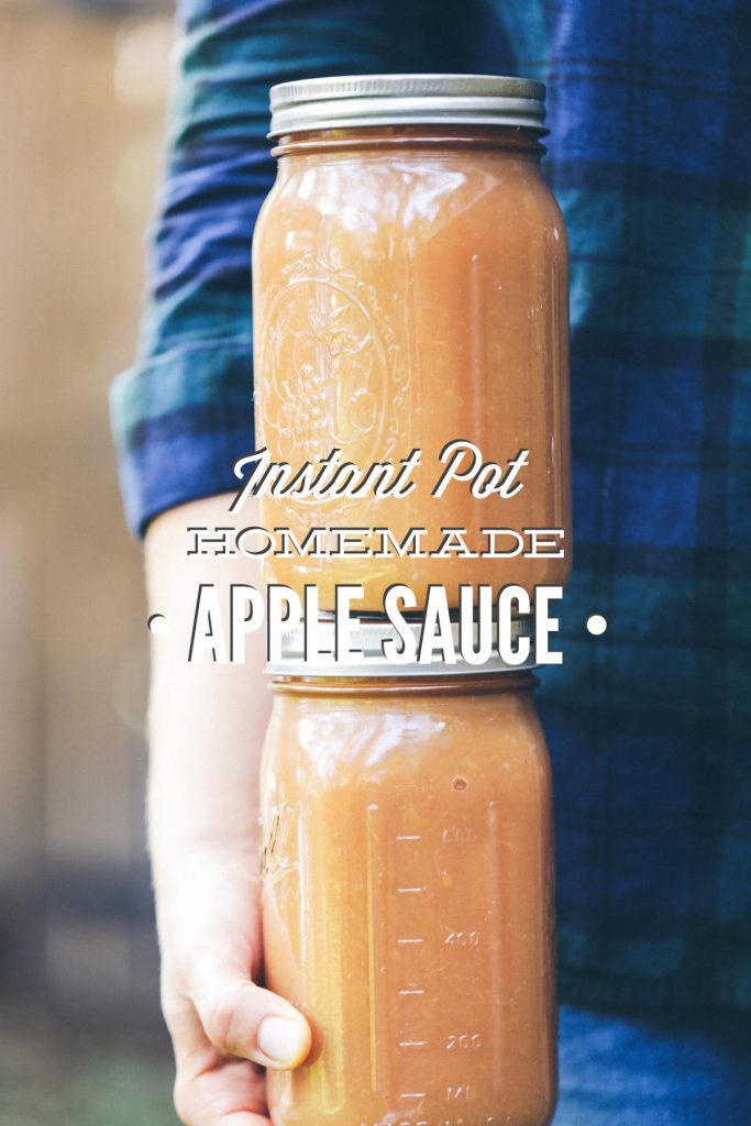 8 minutes, 5 ingredients (including water). Homemade applesauce made in the Instant Pot (electric pressure cooker). Makes 2 full quarts!