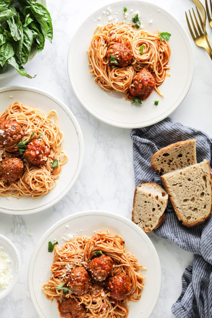Instant Pot Meatballs in Homemade Spaghetti Sauce