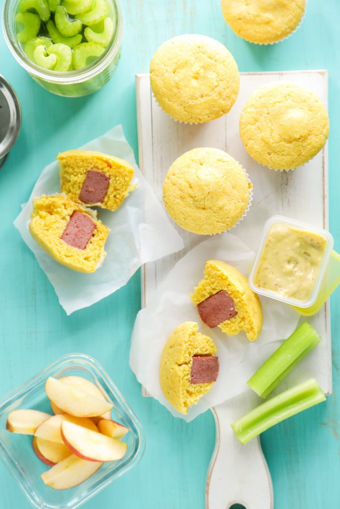 These homemade corndog muffins are a fun, real food twist on the classic corn dog. Freezer and lunchbox friendly.
