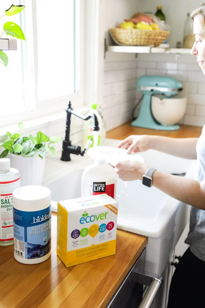 Make the switch from toxic products to more natural dish soap options. Easy to find, affordable options that fit every preference and budget.
