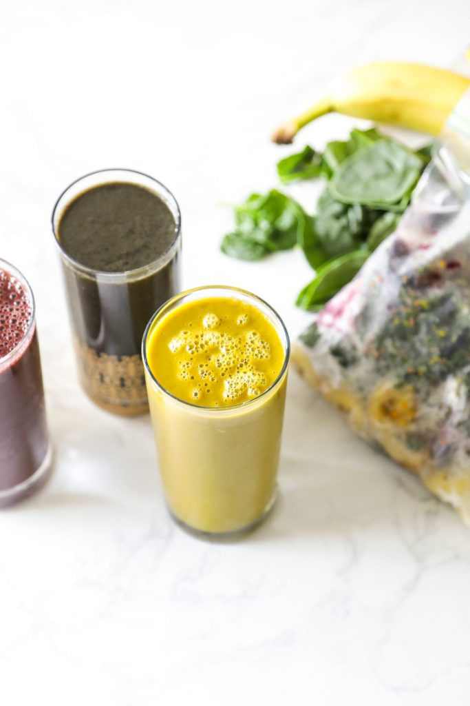 Smoothie packs that combine fruit and veggies, along with other real ingredients, to make nutritionally-rich smoothies.