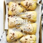 Einkorn Pumpkin Scones with Maple Glaze