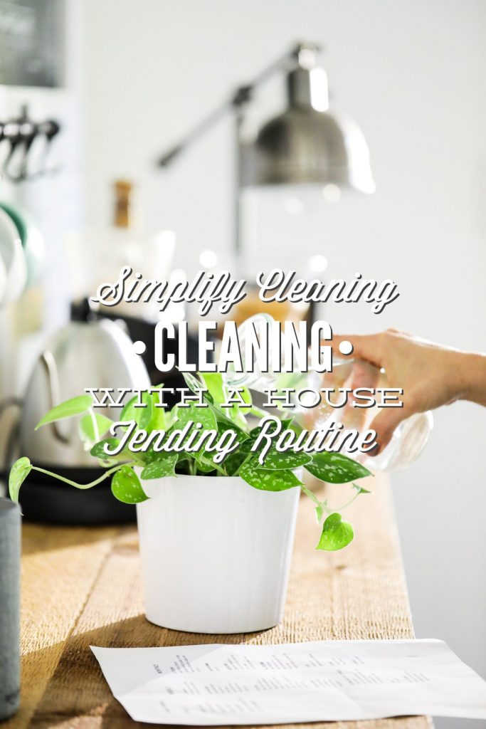 Simplify cleaning and be prepared for the week ahead! This is the best way I've found to simplify cleaning.