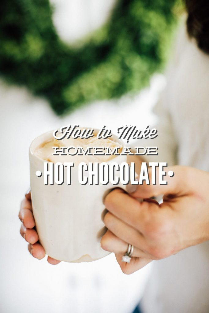 A simple stove-top hot chocolate, sweetened with maple syrup.