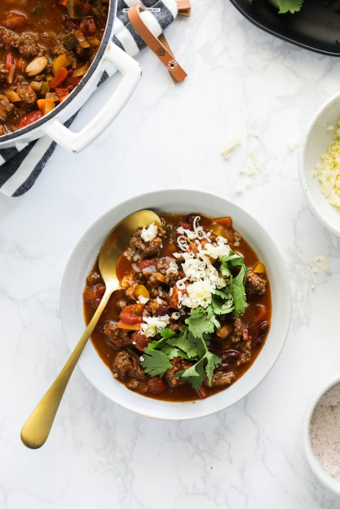 So easy, so good! No fancy ingredients needed. Just a simple, incredibly flavorful homemade chili.