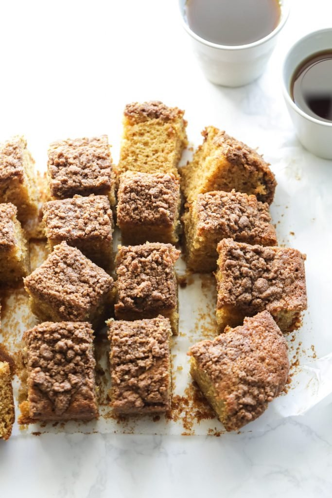 Easy Einkorn Coffee Cake with Cinnamon Streusel