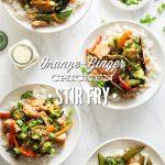 Orange-Ginger Chicken and Veggie Stir-Fry