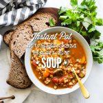 Instant Pot Mushroom Barley Soup