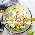 Winter Slaw with Kohlrabi, Cabbage, Radishes, and Carrots