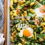 Sheet Pan Potato and Eggs Hash