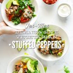 Vegetarian Tex Mex Beans and Rice Stuffed Peppers