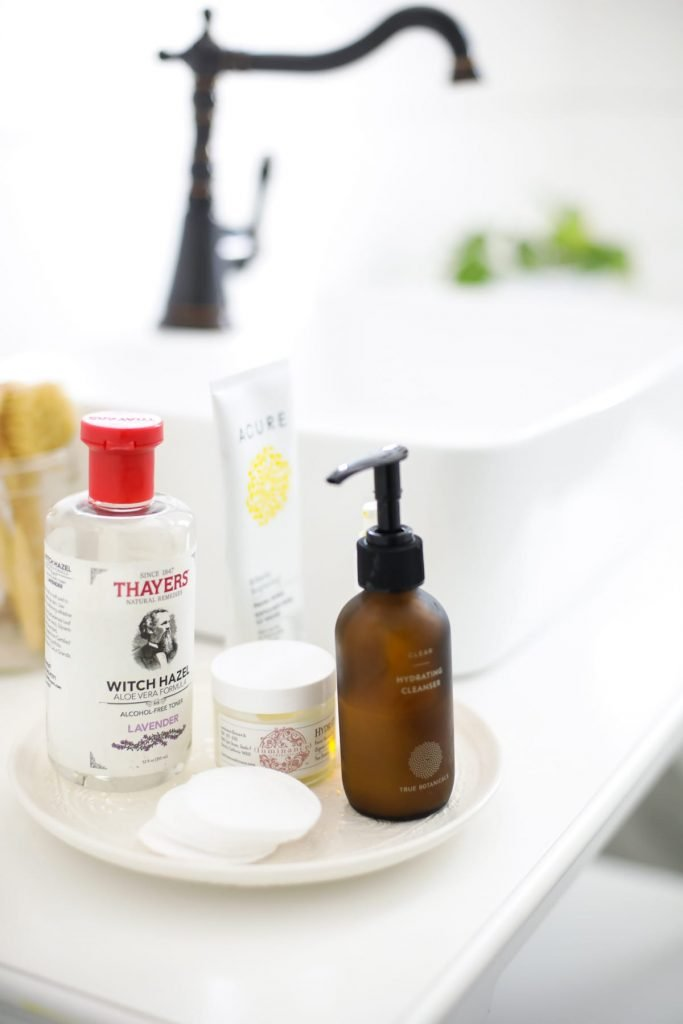 A peek inside my bathroom and my natural skincare practices. The natural products I use and love for aging, sensitive skin. Plus, my natural skincare routine (how to put it all together).