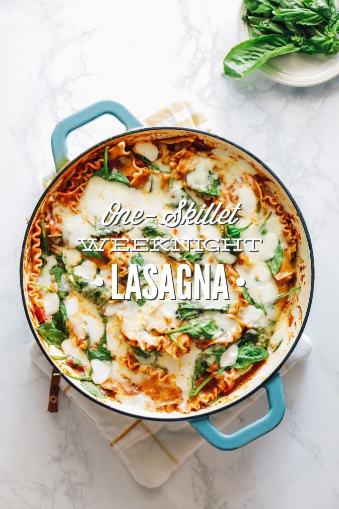 The easiest lasagna you'll ever make! The beauty of this lasagna recipe is that everything, and I mean everything, is cooked in one single skillet. Just one!