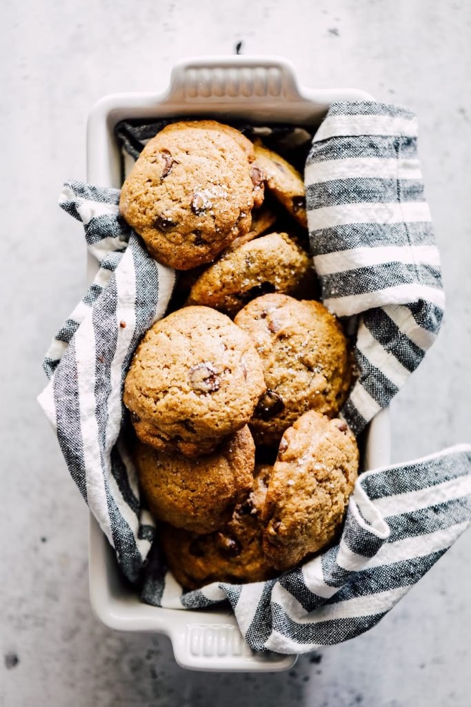 These spelt flour chocolate chip cookies are good ol' treats made with real ingredients. No boxes or fake ingredients needed. Simple and wholesome.