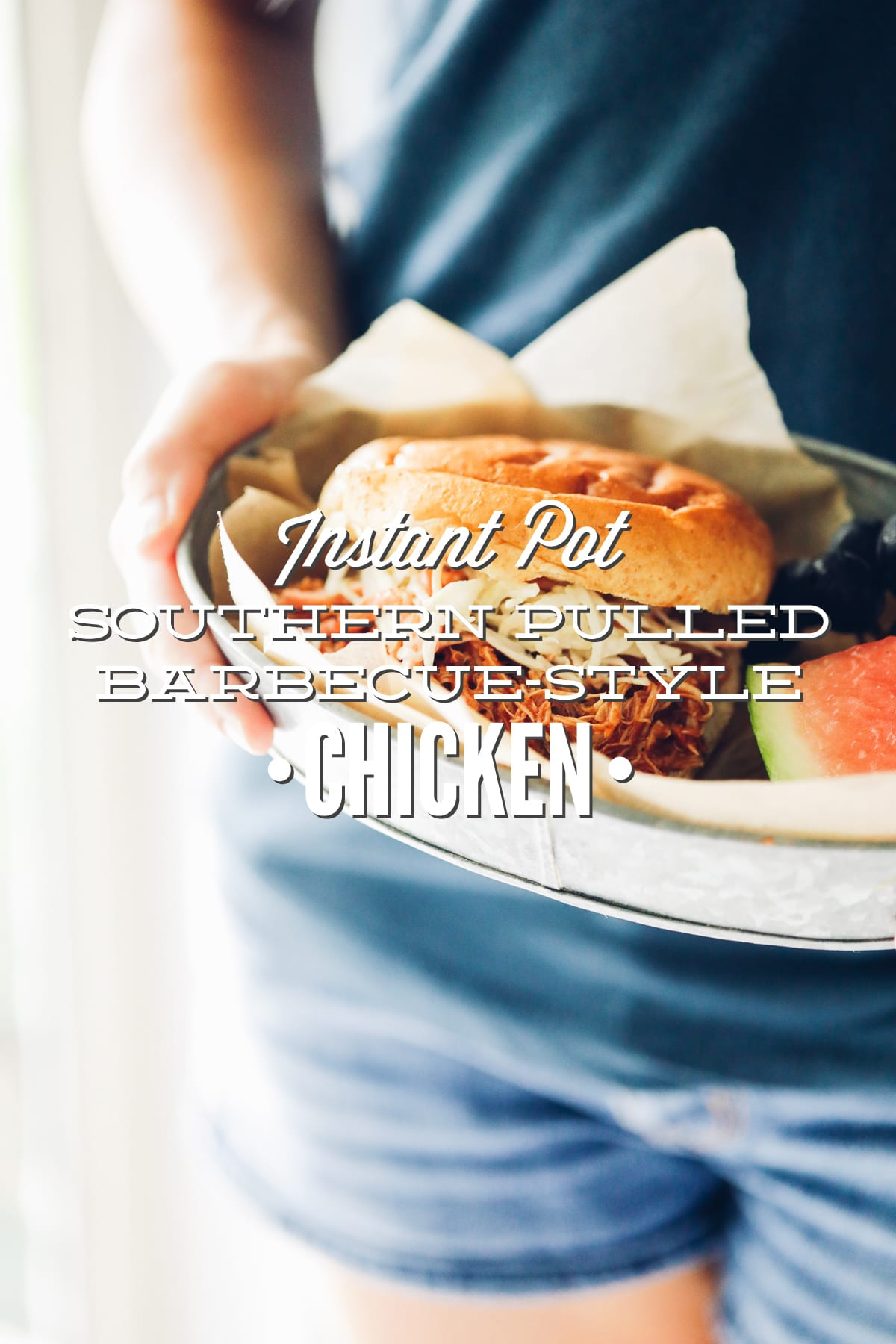 Southern Pulled Barbecue-Style Instant Pot Chicken