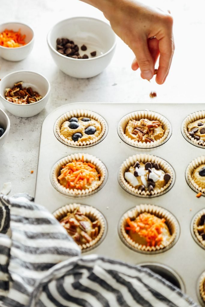A master einkorn muffin recipe with multiple mix-in possibilities. Make these muffins your own by adding your favorite mix-ins.