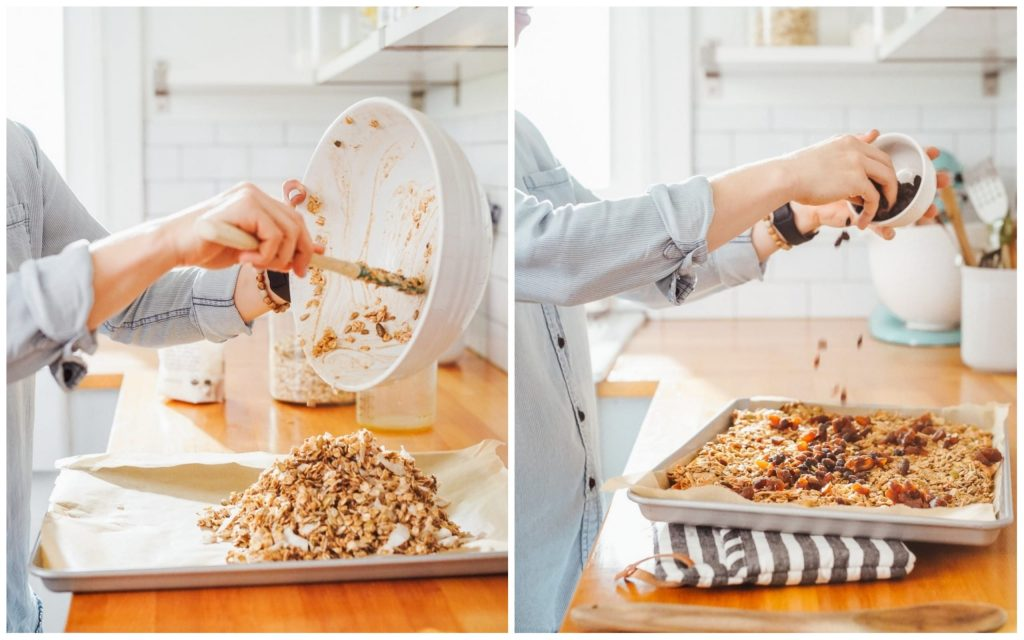 A homemade master granola recipe you can customize to make your own. Use the base recipe, and then choose any spice, dried fruit, or nuts/seeds desired.
