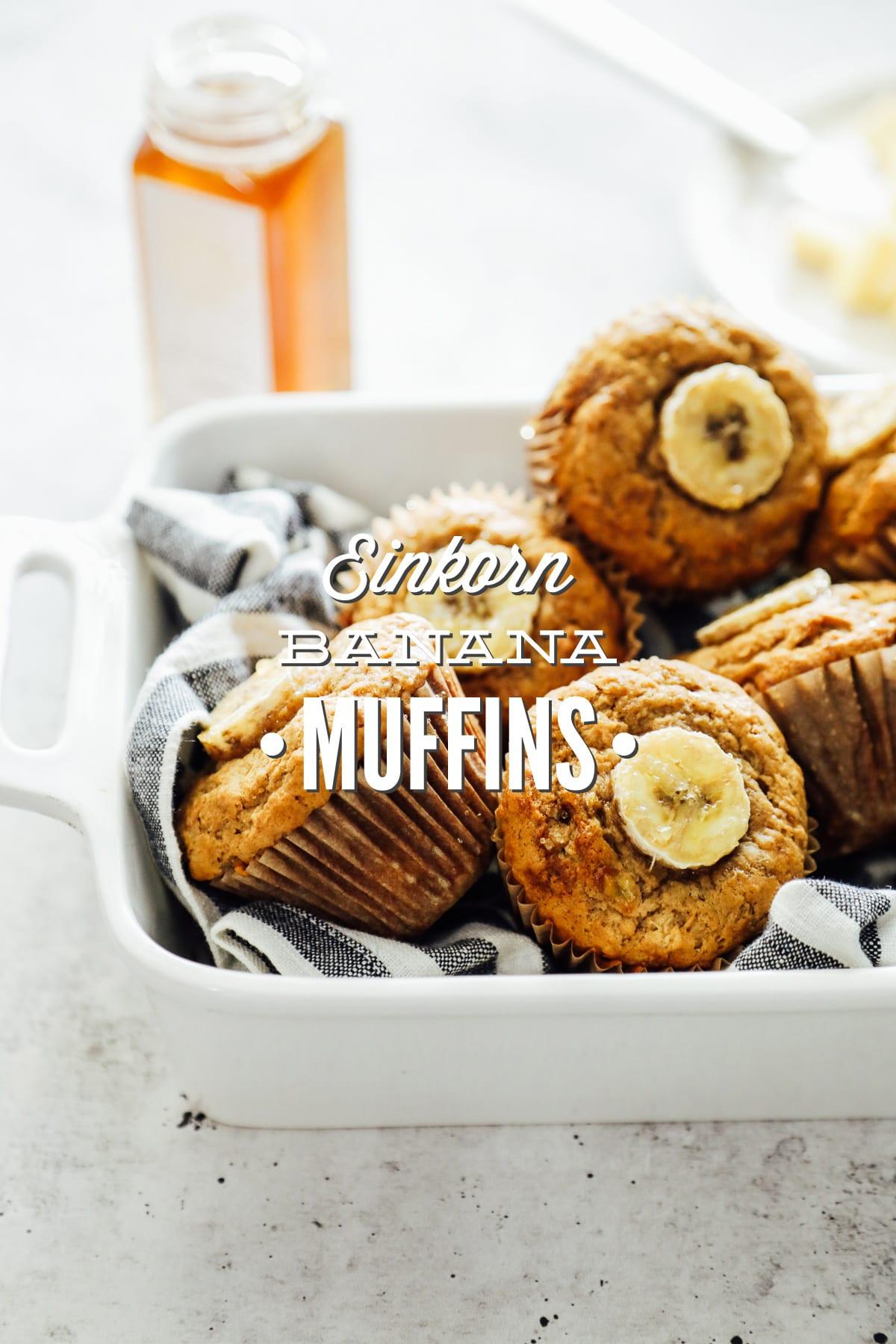 Einkorn Banana-Maple Muffins