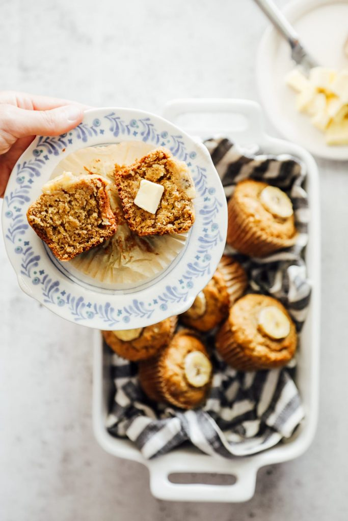 You're going to love these einkorn banana-maple muffins! They have a naturally-sweet flavor (thanks to the banana and maple syrup combo) and a light texture (thanks to the einkorn flour).
