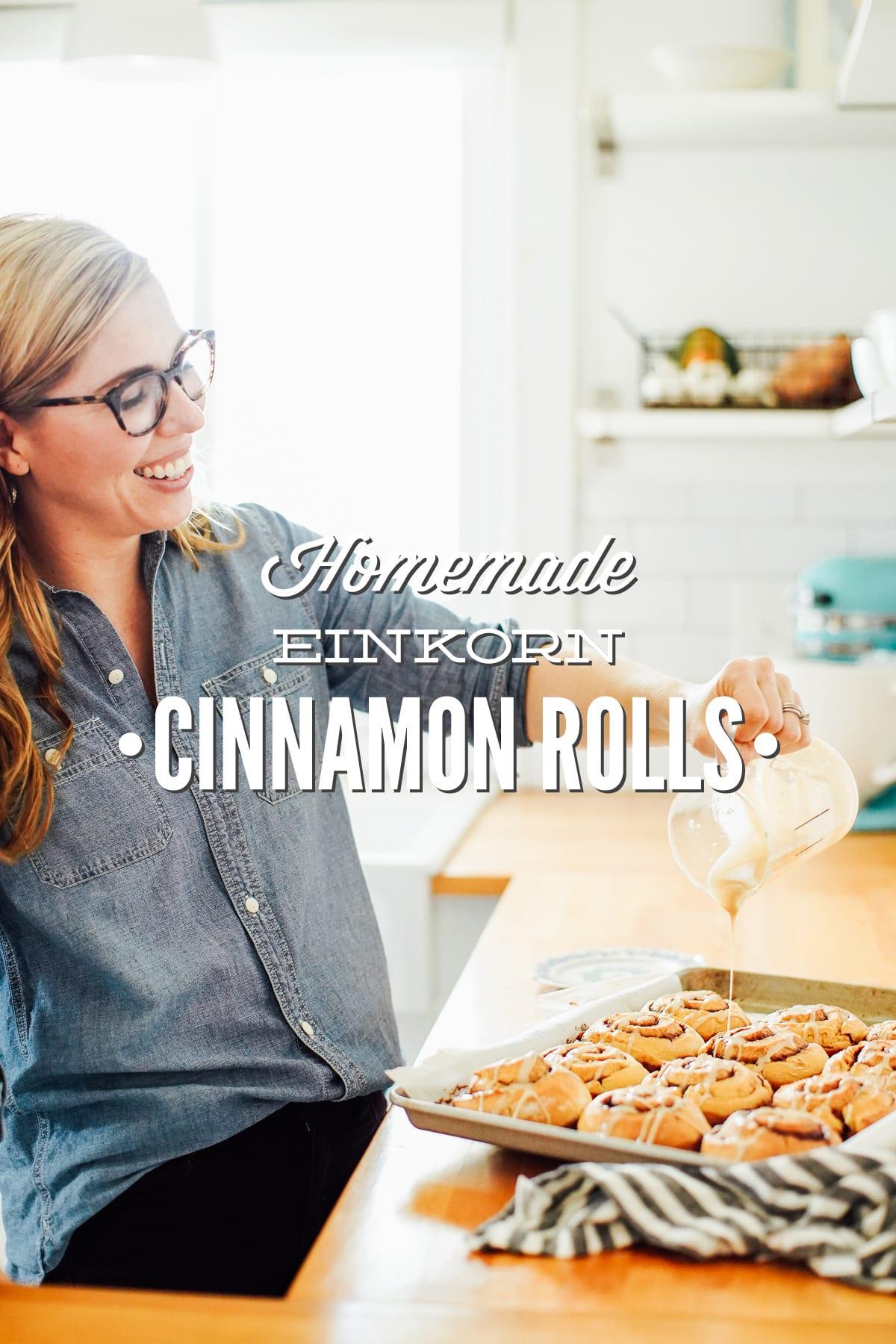 Homemade Einkorn Cinnamon Rolls